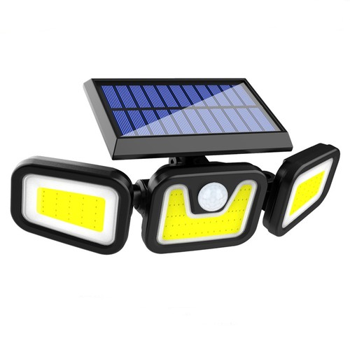 100COB Solar 3 Heads Rotatable Split Motion Sensor Lamp