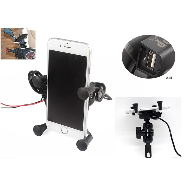 X-Grip Cellphone Mount Universal Motorcycle Mount Cell Phone Holder US