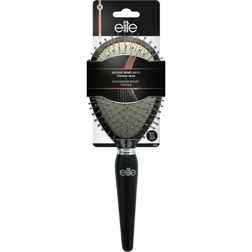 Elite Models Jewel Detangling Cushion Brush Metallic Bristles, Medium, 1.62