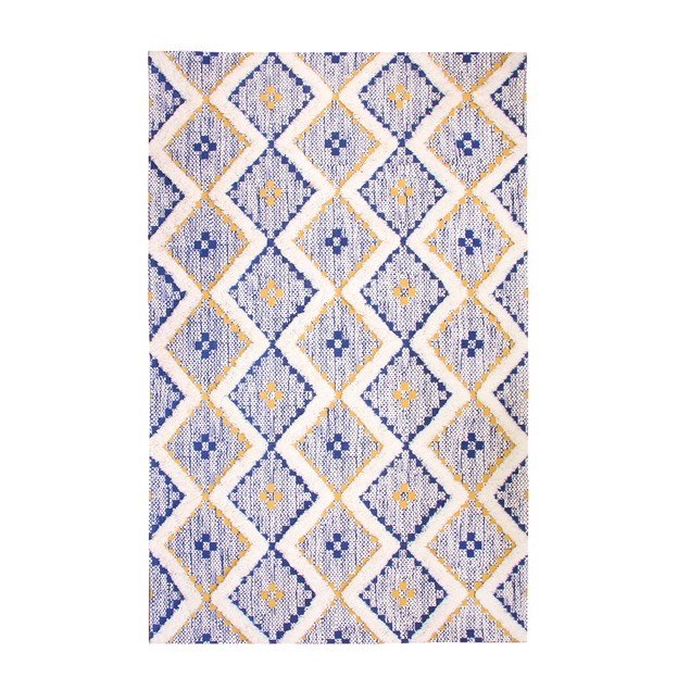 Cotton/Wool Hand-Tufted Textured Area Rug