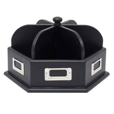 Studio Designs Wood Desk Carousel - Black