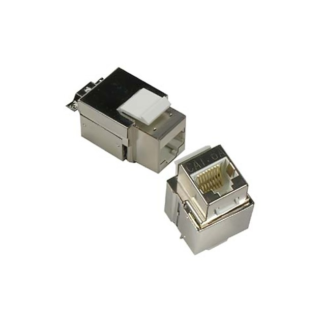 Shielded Cat6aJ Keystone  jack, RJ45 Female to 110 Punch Down, STP