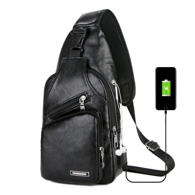 Sling Bag With Built in USB Port