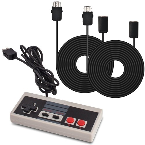 AGPtek® Controller Gamepad and 2pc*9.84Ft Extension Cables