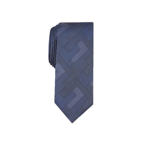 Alfani Men's Slim Abstract Geometric Tie  Navy Size Regular