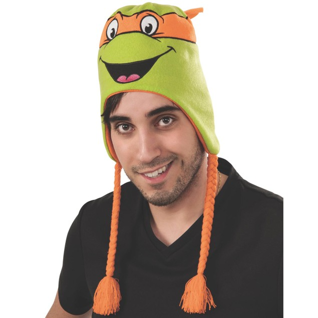 Michelangelo Teenage Mutant Ninja Turtles Laplander Hat TMNT Orange Mikey