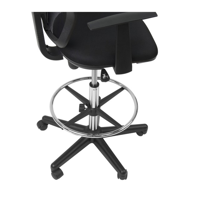Studio Designs Riviera Drafting Chair - Black