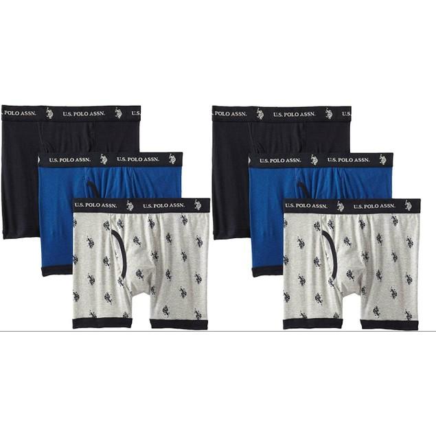 6-Pack US Polo Assn Men's Cotton Boxer Briefs