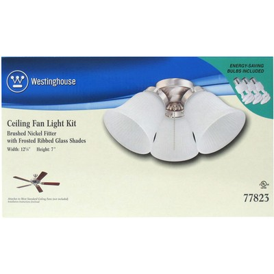 Westinghouse Lighting 3-Light Oil-Rubbed Brushed Nickel Ceiling Fan Light