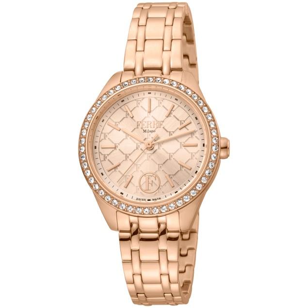 Ferre Milano Women's Classic Rose gold Dial Watch - FM1L116M0261