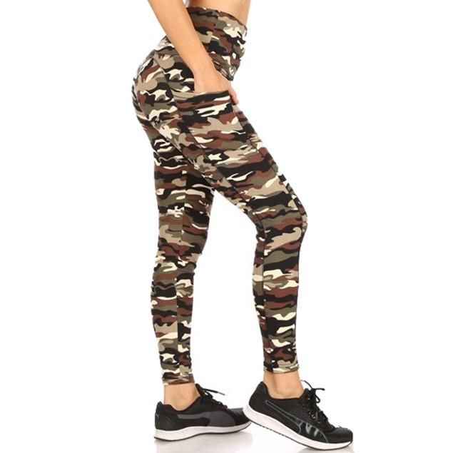 Women's Active Leggings Side Pocket (S-3X)