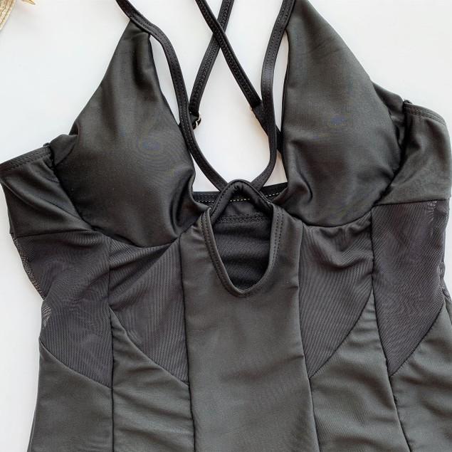 Women's Steel Ring One-piece Bikini