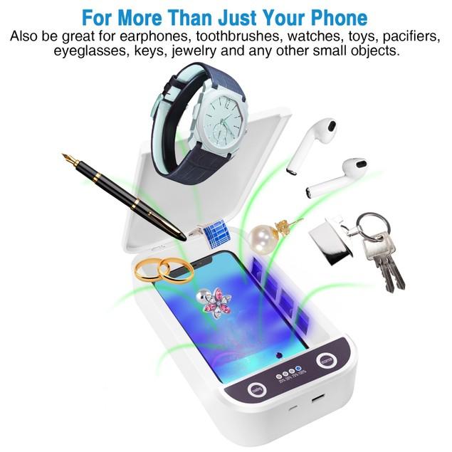 UV Phone Sanitizer Smartphone Sterilizer Portable Cell Phone Cleaner