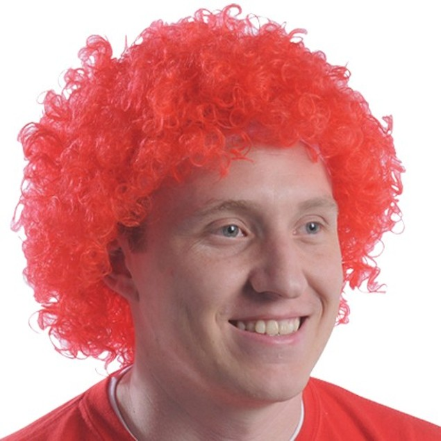 Red Curly Afro Wig Afro Clown Ronald McDonald Costume  Cosplay Hair Fro