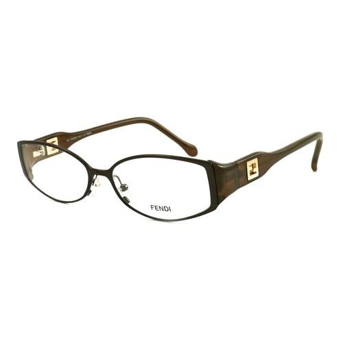 Fendi Women Eyeglasses FF707 205 Brown 54 15 135 Full Rim Oval