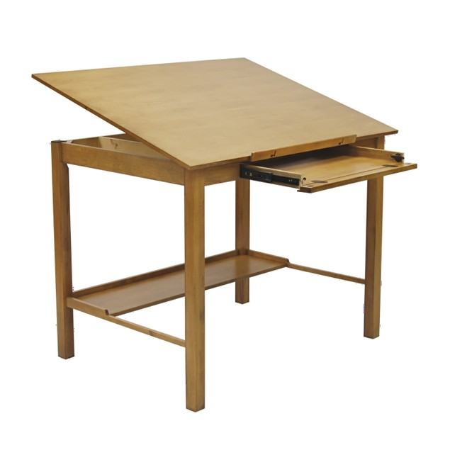 "Studio Designs Americana II Drafting 36"" x 48"" Table - Light Oak"