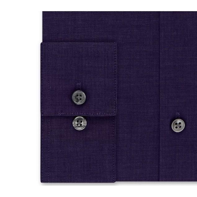 Calvin Klein Men's Slim Fit Non Iron Performance Dress Shirt Purple 34-35
