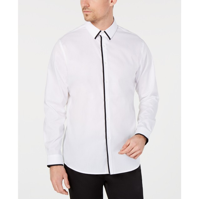 INC International Concepts Men's Victor Shirt White Size Medium