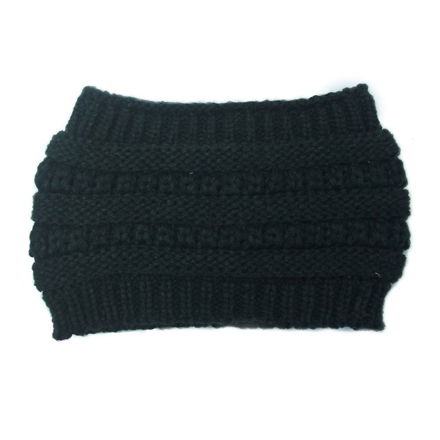Ladies Knitted Widened Hollow Top Hat