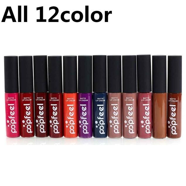 12 Colors Waterproof Liquid Long Lasting Lipstick