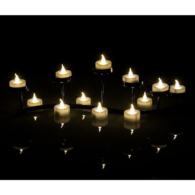 AGPtek®100 Pack LED Battery-Operated Flameless Tea Light Candles,Warm White