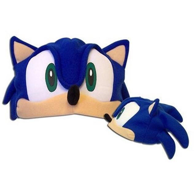 Sonic The Hedgehog Fleece Hat Cap Beanie Sega Anime Cosplay Adult
