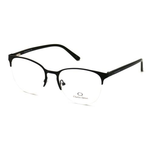 Charles Delon Women's Eyeglasses JS041 C1 Matte Black 52 18 142 Stainless Steel