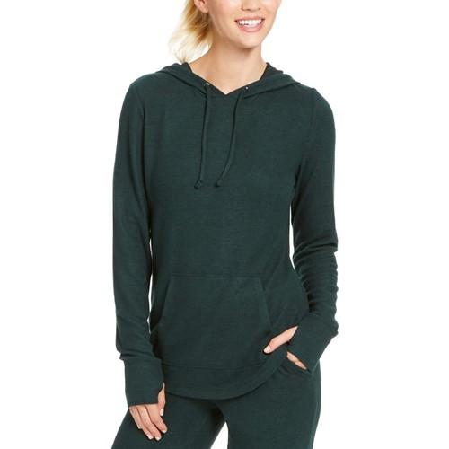 Ideology Women's Mushy-Knit Hoodie  Green Size Extra Large