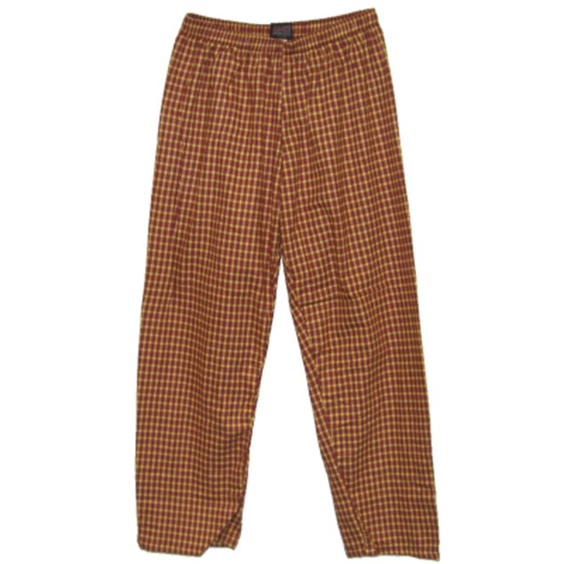 Red And Yellow Plaid Saul Silver Pants