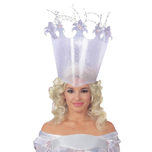 Good Fairy Crown Witch Wizard Of Oz Glinda Glenda Headpiece Princess Hat
