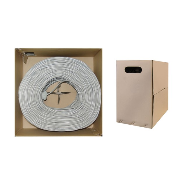 Bulk Cat6 Gray Ethernet Cable, (Unshielded Twisted Pair), 1000 foot