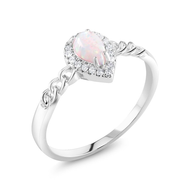 Cubic Zirconia Pear Shaped Ring