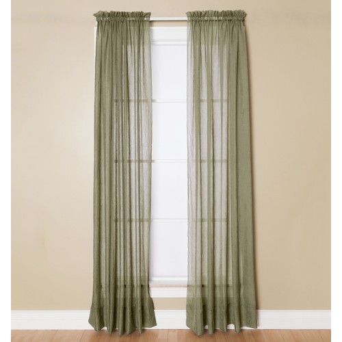 "Miller Curtains Preston Rod Pocket Window One Panel Basil Green 52"" x 95"""