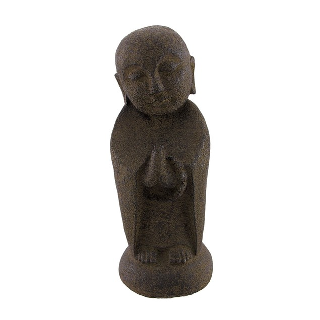 Volcanic Stone Buddhist Jizo Bodhisattva Statues