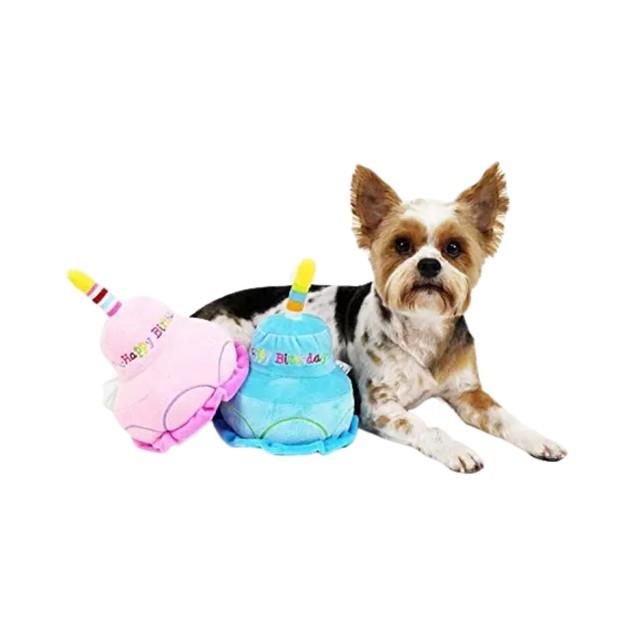 Midlee 2 Layer Birthday Cake Dog Toy (Pink)