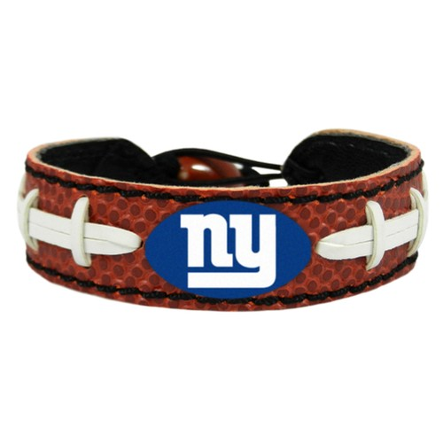 New York Giants Classic Football Bracelet NYG Leather Lace Laces