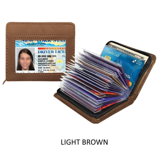 RFID Blocking Slim Leather Wallet - Assorted Colors