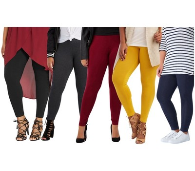 ToBeInStyle Women's Skinny Fit Cotton Full Length Leggings (S-3XL) Was: $29.99 Now: $15.99.