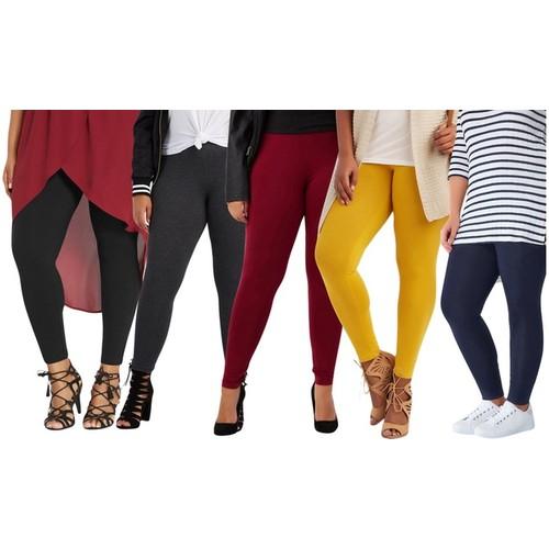 ToBeInStyle Women's Skinny Fit Cotton Full Length Leggings (S-3XL)