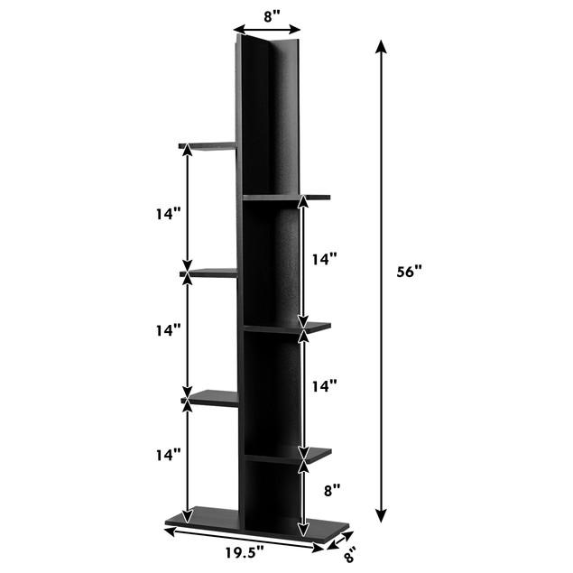 Costway 7-Tier Bookshelf Bookcase Plant Display Shelf Rack Storage Holder W