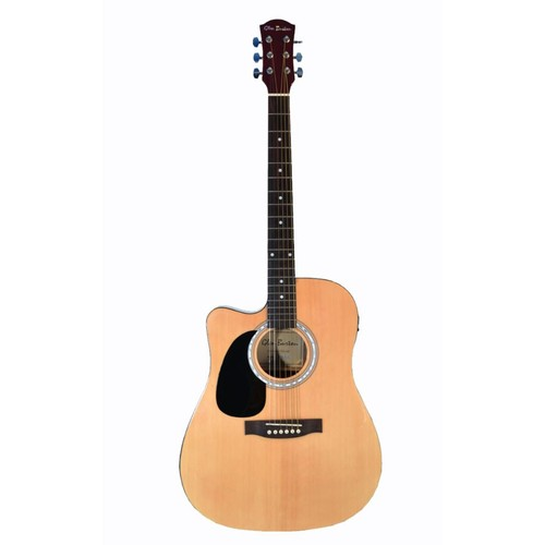 Left Handed Premium Cutaway Style Acoustic Electric 6 String Guitar