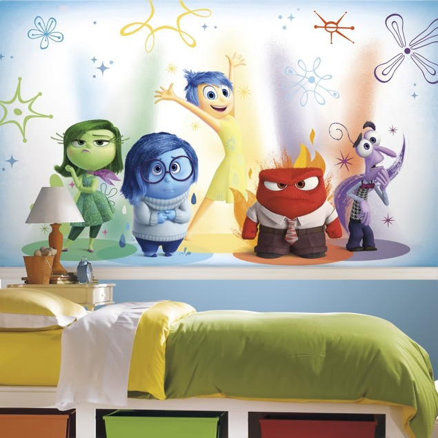 Inside Out XL Chair Rail Prepasted Mural 6' x 10.5' - Ultra-Strippable