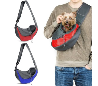 Pet Dog Sling Carrier Breathable Mesh Puppies Cats Travel Carrier Pouch Was: $26.99 Now: $16.49.