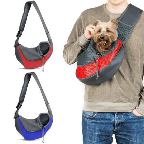 Pet Dog Sling Carrier Breathable Mesh Puppies Cats Travel Carrier Pouch