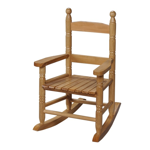 Gift Mark Childs Double Slat Back Rocking Chair- Natural