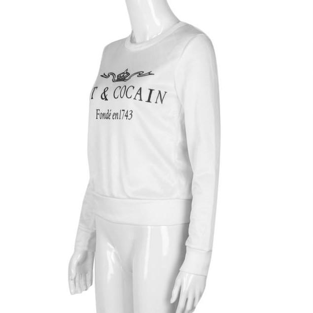 Womens Casual Long Sleeve Letter Sweatshirt Tops Shirt