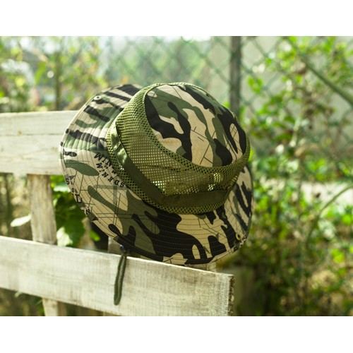 Mesh Hat Wide Full Brim Camouflage - For Fishing, Hiking, Camping and More