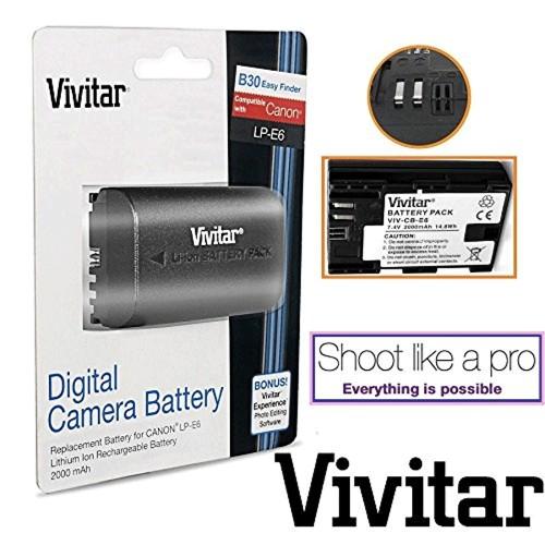 Vivitar VIV-CB-E6 - BATTERY FOR CANON LP-E6