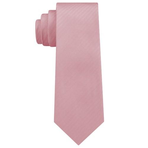 DKNY Men's Street Unsolid Solid Slim Silk Tie Pink Size Regular