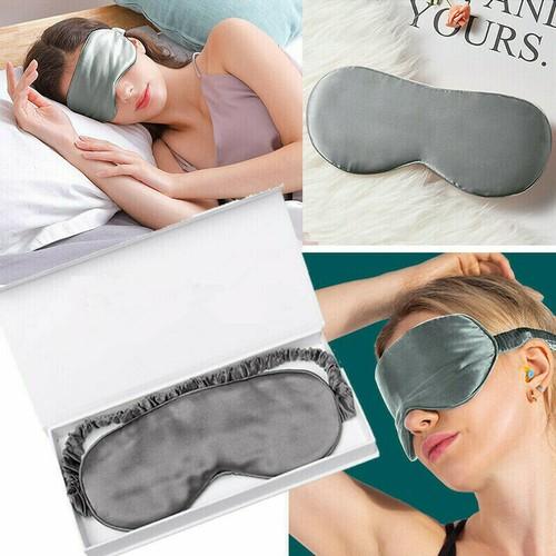 100% Silk travel Sleep Eye Mask Cover Padded Blindfold Soft Silky Relax
